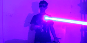 This Dude Built A Homemade Laser Shotgun And I Have So Many Nerd Boners Right Now!