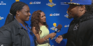 Marshawn Lynch Cursed On Live TV During Interview At Warriors' Parade