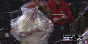 I Can't Stop Watching This Washington Nationals Fan Struggled To Put On A Rain Poncho