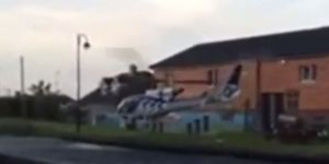 Watch The Scary Moment Helicopter Is Destroyed After Crashing Into Irish Pub