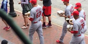 The St. Louis Cardinals Find That The Best Coffee Runners Are Their Rookies…While In Full Uniform, Of Course