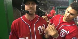 Max Scherzer Got Violently Abused By His Teammates During A Mid-Game Interview