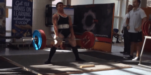 Watch This Powerlifter Fall Down Like A Tree While Doing A Sumo Deadlift