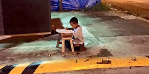 Remember The Little Kid Doing His Homework On The Curb Under A Street Light? He Got Hooked Up