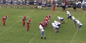 Middle School QB Makes The Most Athletic Football Play You'll See This Year, At Any Level