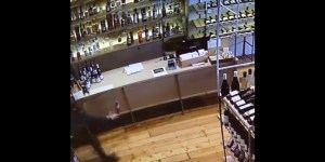 All Hail This Man, Who Laid Out Completely To Save A Bottle Of Wine That Was Falling Off A Counter