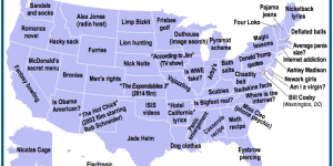 Map Shows Popular Google Searches For Each State Over Last 10 Years And The Results Are An Embarrassment To America
