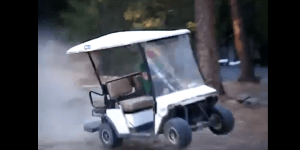 Teenagers Drive Golf Cart In The Most Ratchet Way Ever