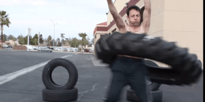 Bros — The Latest Way To Get SWOLE Upper Body Strength Is To Hula Hoop Giant Truck Tires