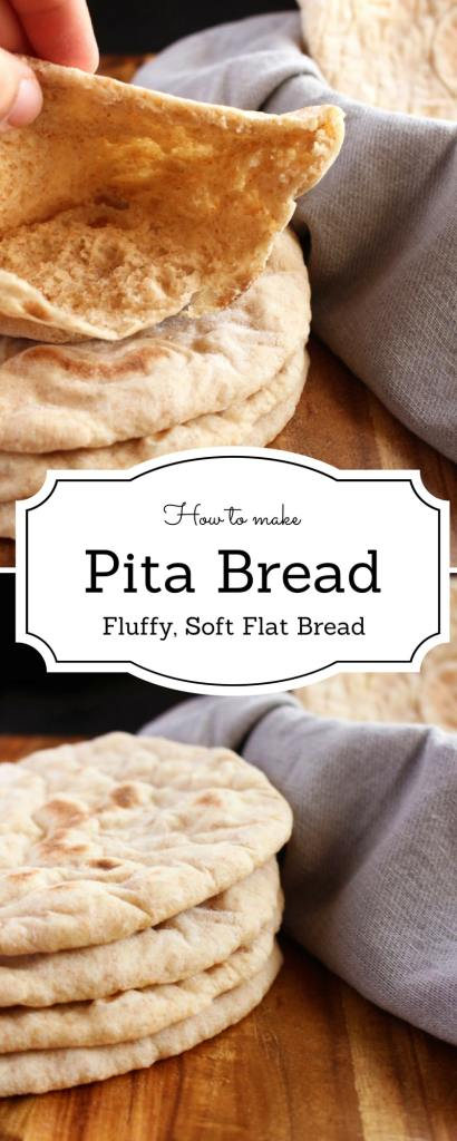 How to make Pita Bread - This recipe is both easy and delicious. Using a simple dough, you can learn to make the best pita ! -Brokefoodies.com