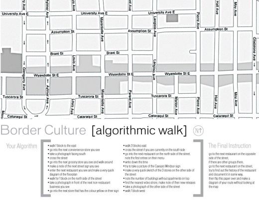 Algorithmic Walk for Border Culture