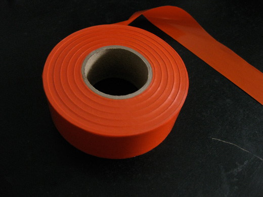 flagging tape from Canadian Tire