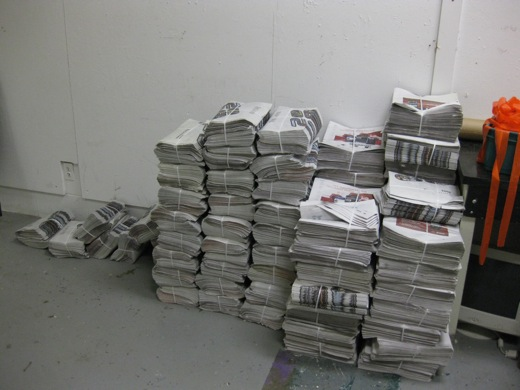 lots of newspaper