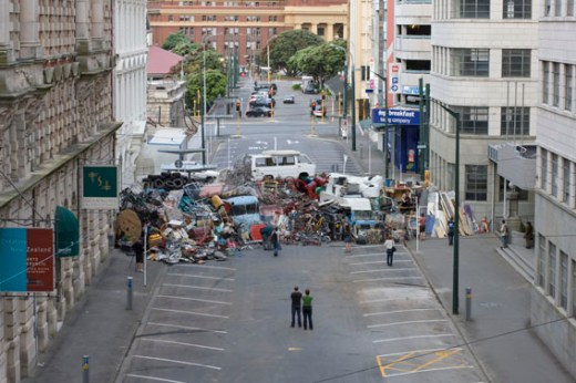 Journée des barricades in New Zealand by Heather and Ivan Morison