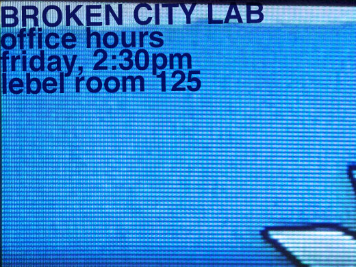 Broken City Lab Office Hours