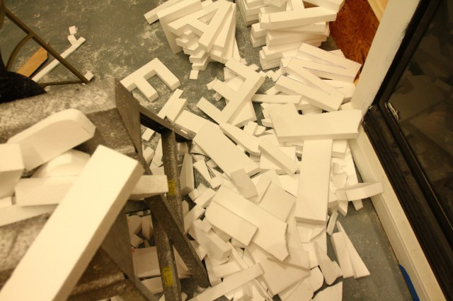 Styrofoam letter tests for our Letter Library Project (6)