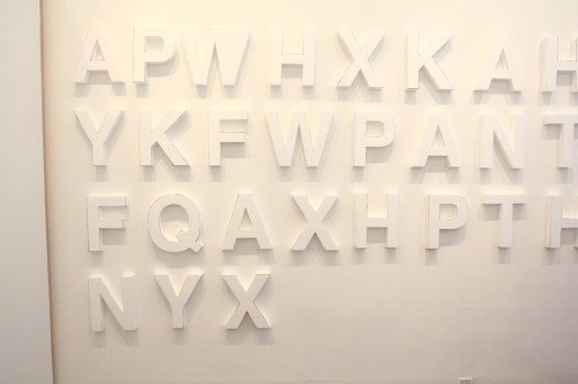 Styrofoam letters, white walls, night time guerilla art (11)