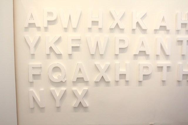 Styrofoam letters, white walls, night time guerilla art (11)