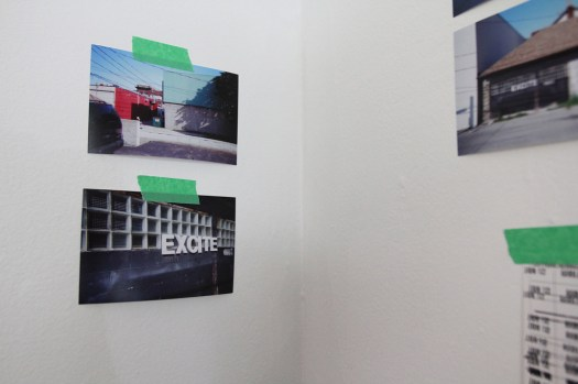Exhibition design, photographs, tape, and negatives (3)
