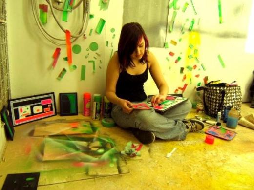 Michelle going stencil crazy