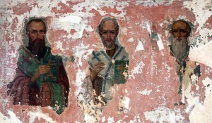 Святители Василий Великий, Григорий Богослов и Иоанн Златоуст