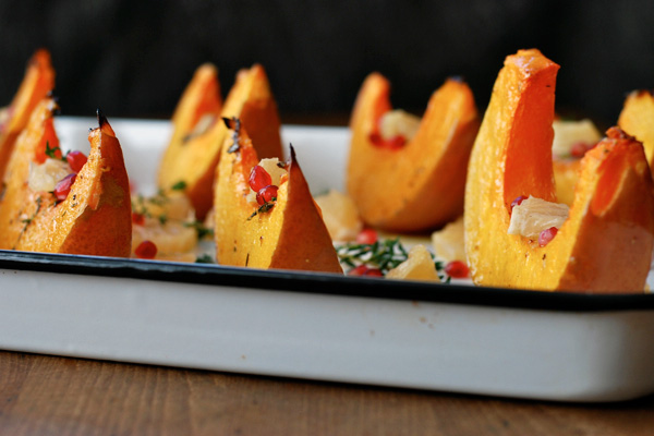 roasted squash wedges with grapefruit and pomegranate // brooklyn supper