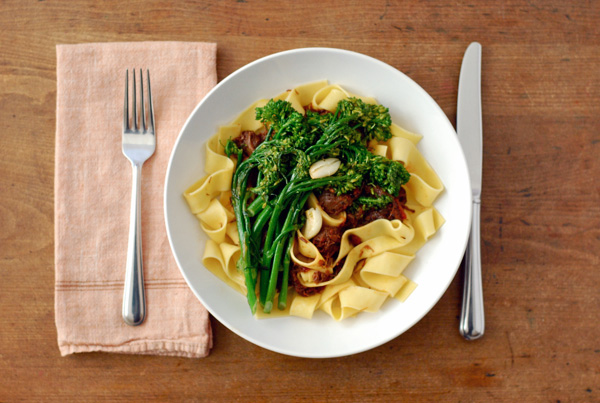 beef shank ragu with broccolini // brooklyn supper