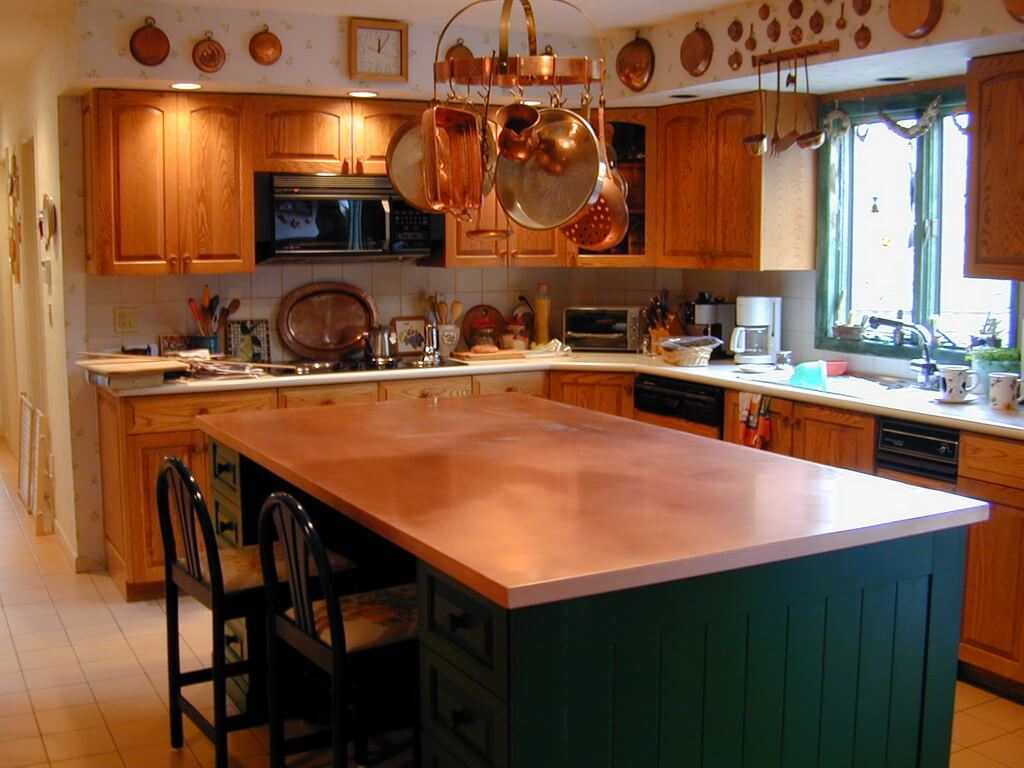 High 05 Classic Kitchen Raw Copper Island Counter Resize Kitchen Island Counter Ideas kitchen Island Counters Kitchen