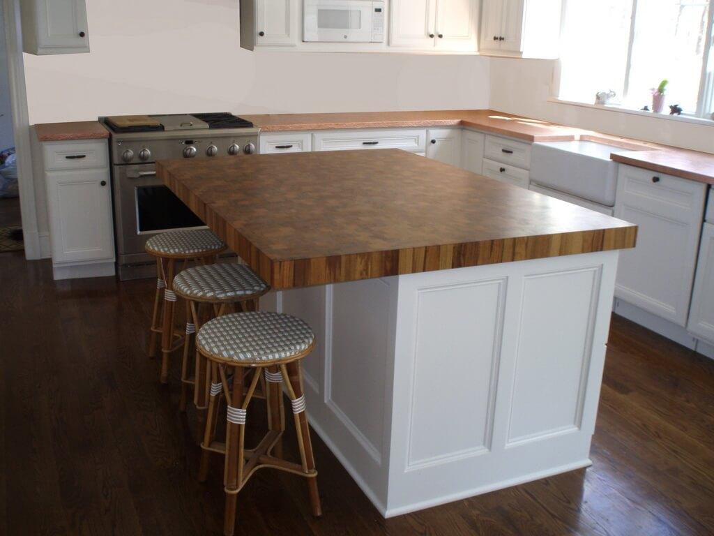 14 Teak end grain wood kitchen island countertop resizewalnut wide plank countertop dark stain