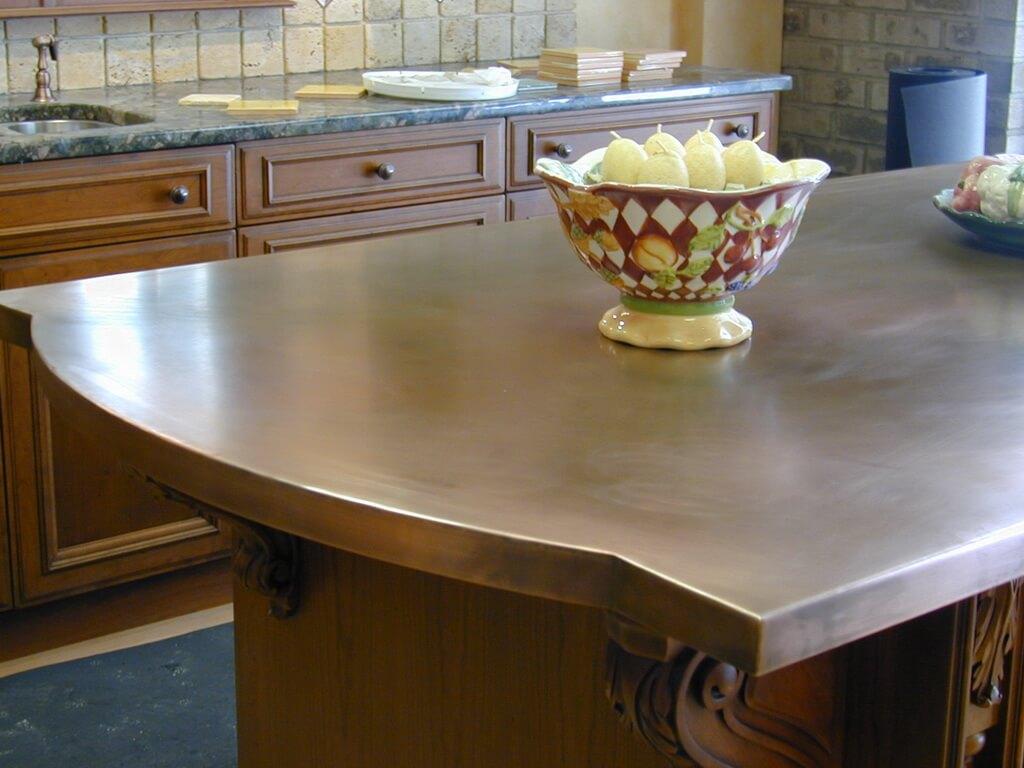 copper countertop kitchen Copper Counter Tops
