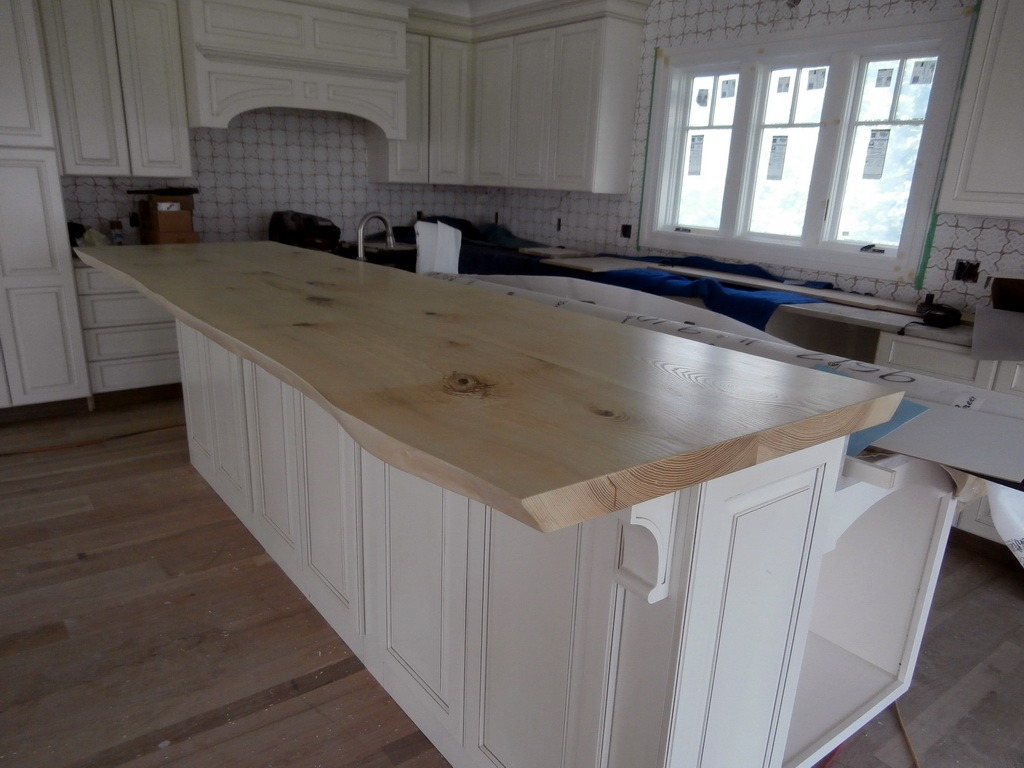 live edge wood countertops kitchen island countertop Live Edge Wood Countertops Gallery