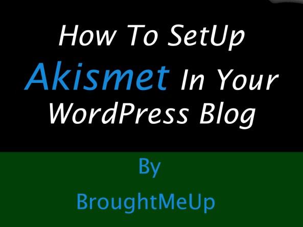 setup akismet wordpress plugin and get free akismet API key