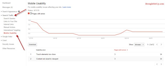 Mobile Usability Issues In Google Webmaster Tools