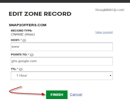 add cname record for blogger custom domain setup