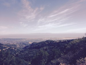 View of Santa Barbara and Channel Islands from mountain ridge road