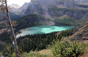 View from Our First Break on Hike to Grinnell Glacier
