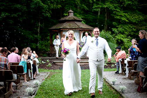 Brown County Weddings outdoor gazebo by the pond