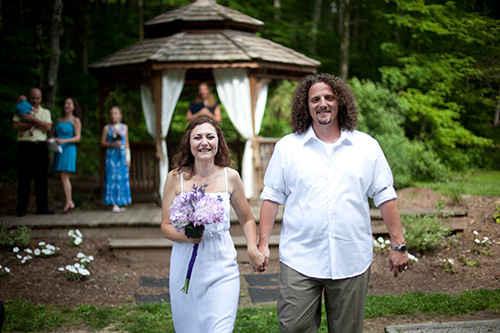 Brown County Wedding outdoor gazebo June 2015