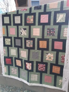 The second quilt I'll be using for machine quilting practice
