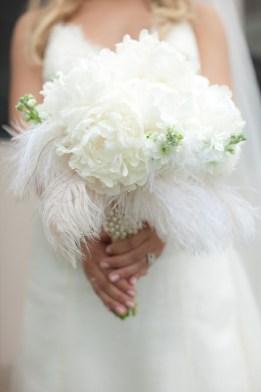 hvit brudebukett