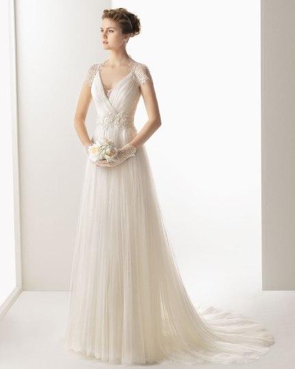 Brudekjole med blonder