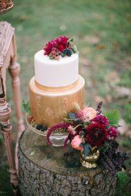 plomme-oliven-gull-fersken-bryllupskake