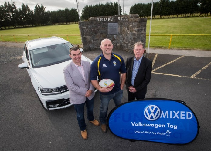 Ron Hogan of Frank Hogan Limerick Volkswagen, Former Irish Rugby Legend John Hays and Joe Moran, Sales Representative Frank Hogan