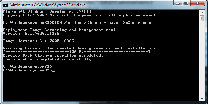 dism /online /cleanup-image /spsuperseded