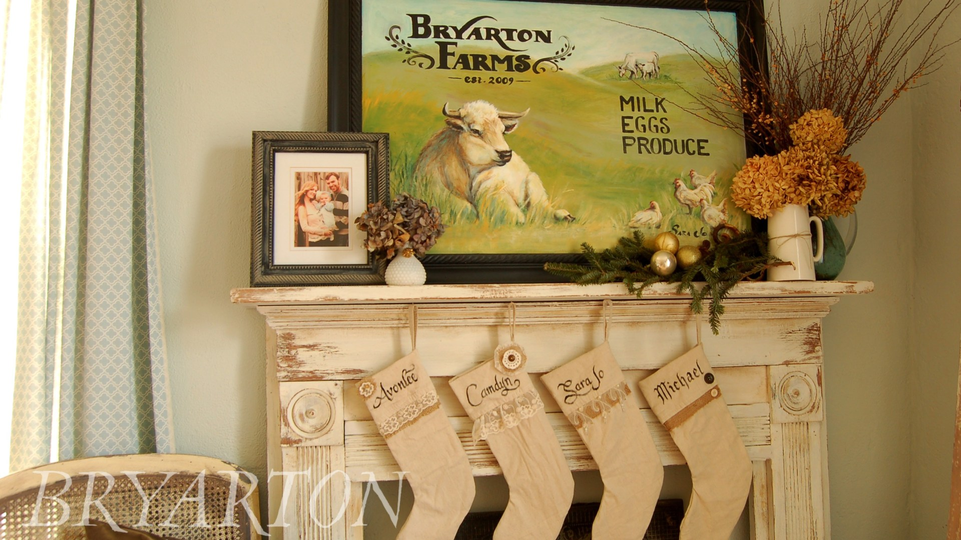 Farmhouse Style Stocking Tutorial