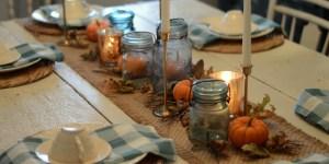 Budget Friendly Farmhouse Style Thanksgiving Centerpiece