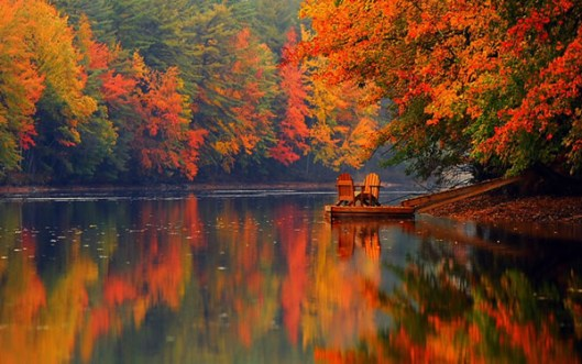 "Bridgton fall colors by ""icanpaintyay"", 2014."