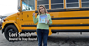 BTSB books face the school bus.