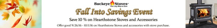 Hearthstone Stoves Sale