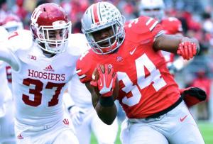 Ohio State routs Indiana, to play for Big Ten title